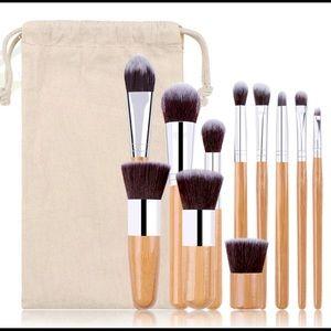 11 pcs custom bamboo handle makeup Brush Set